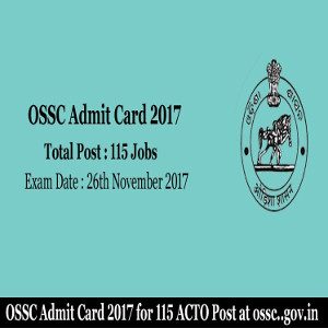 Ossc acto admit card 2017 18 get acto call letterossc ossc acto admit card 2017 18 spiritdancerdesigns Image collections